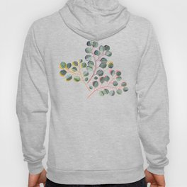 Simple Silver Dollar Eucalyptus Leaves Hoody