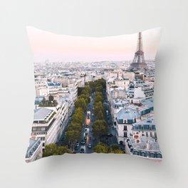 Paris City Throw Pillow