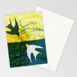 Sun and Swallows Stationery Cards