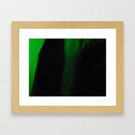 Minimalist - Grn&Blk Framed Art Print
