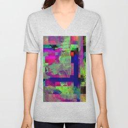 Pastel Geometry X - Abstract, goemetric, pastel coloured, textured artwork Unisex V-Neck