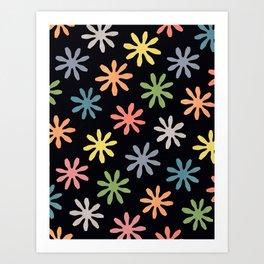 Stylized Flower Pattern Art Print