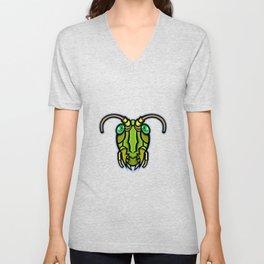 Grasshopper Head Mascot Unisex V-Neck