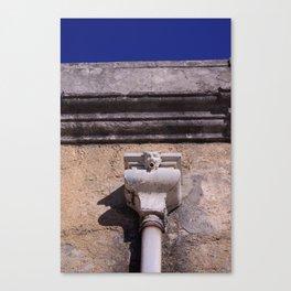 Gargoyle, Spout - Old roof gutter - Lisbon 1903 Building - 20th century Canvas Print