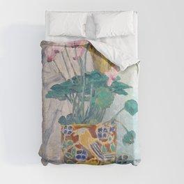 "Charles Rennie Mackintosh ""Cyclamen"" Comforters"