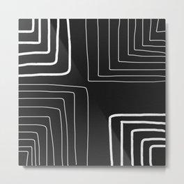 White Pattern Metal Print