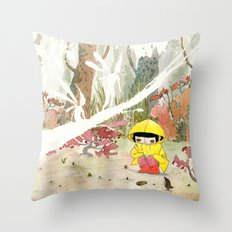 in the rain 1 Throw Pillow