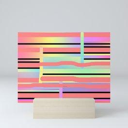 RETRO PASTEL LINES Mini Art Print