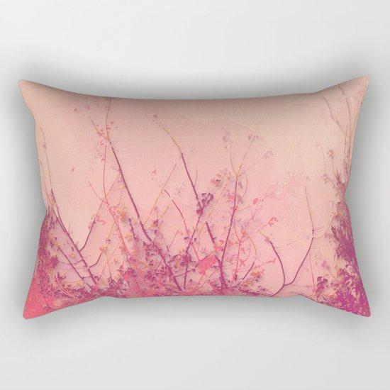 Lost in Pink (Carmine Pink Botanic Garden) Rectangular Pillow