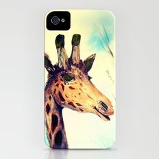 Giraffe Smile -take 2-digital remake iPhone (4, 4s) Slim Case