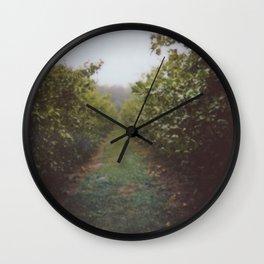 Orchard Row Wall Clock