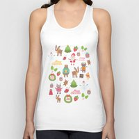 merry christmas Tank Tops featuring Merry Christmas by Anna Alekseeva kostolom3000