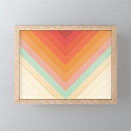 Rainbow Chevrons Framed Mini Art Print