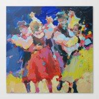 folk Canvas Prints featuring Folk  by Renata Domagalska