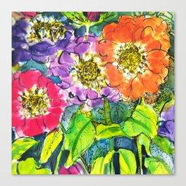 Zinnia Pow! Canvas Print