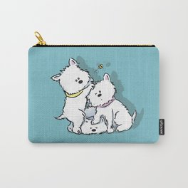 Westie's Chasing a Bee Carry-All Pouch