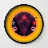 wizard Wall Clocks featuring Wizard by Spooky Dooky