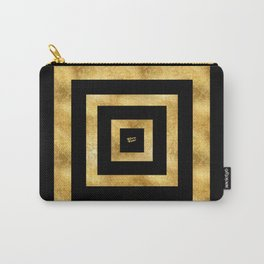 ART DECO SQUARES BLACK AND GOLD #minimal #art #design #kirovair #buyart #decor #home Carry-All Pouch