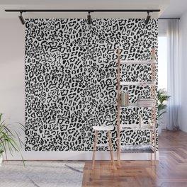 Modern Hipster Girly Black Leopard Animal Print Wall Mural