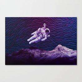 Cosmonaut Wave Canvas Print