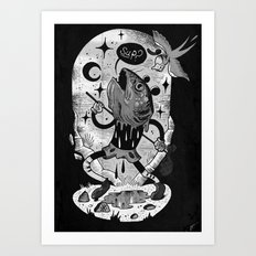 Mr Fish Goes to Hollywood  Art Print