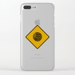 Death Star Crossing Clear iPhone Case