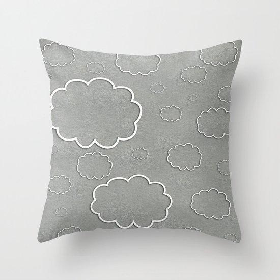 Cartoon Sky Throw Pillow