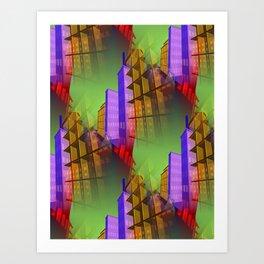 city pattern -2- Art Print