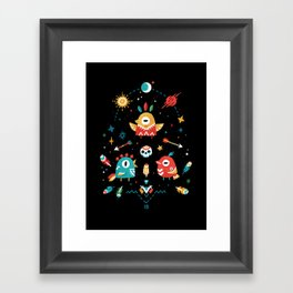 Strange Bird Pattern Framed Art Print