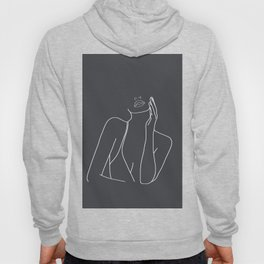 Minimal Line Art of a Woman Hoody