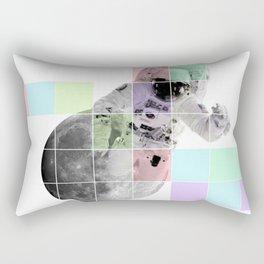 Man on The Moon Abstract Rectangular Pillow