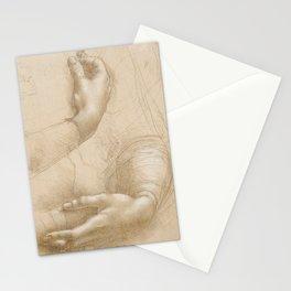 Hand studies - Leonardo Da Vinci Stationery Cards