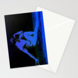 Blue Beauty : Male Nude Art Stationery Cards