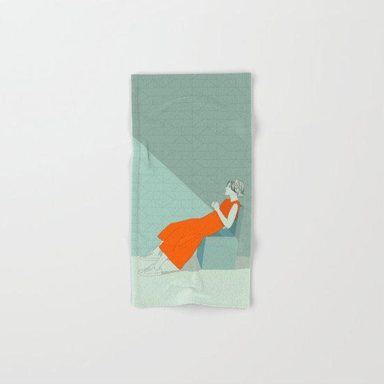 The woman in orange Hand & Bath Towel