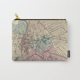 Vintage Map of Paterson New Jersey (1872) Carry-All Pouch