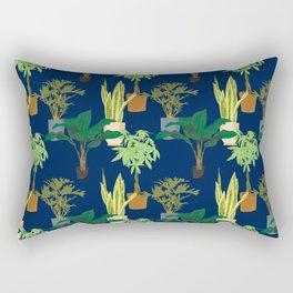 Large Houseplants Rectangular Pillow