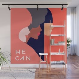 Together, we can  #girlpower Wall Mural