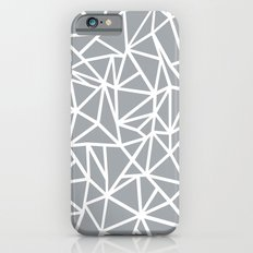 Abstract Outline Thick White on Grey Slim Case iPhone 6s