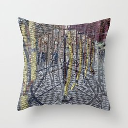 Creases around remnants memorialized emphatically. Throw Pillow