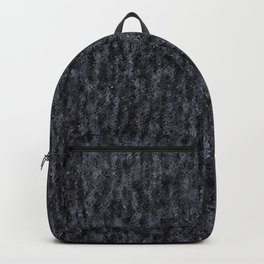 Crinkled Black Onyx Metallic Foil Backpack