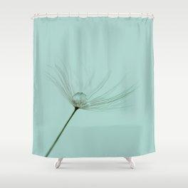 Dandelion dew drop Shower Curtain