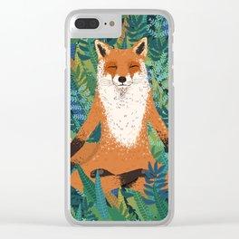 Fox Yoga Clear iPhone Case