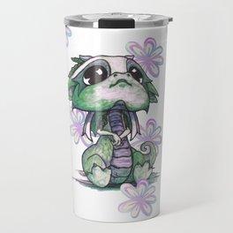 Baby Dragon with Flowers Travel Mug