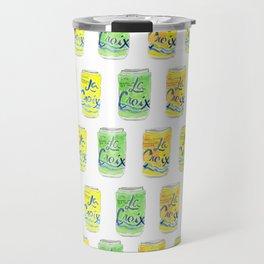 La Croix Cans Watercolor Travel Mug