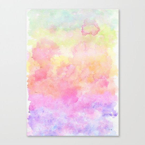 Rainbow Watercolour Gradient Canvas Print
