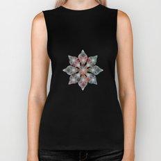 Abstract Star Flower Pattern Biker Tank