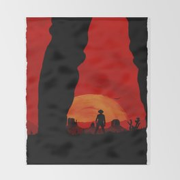 """Redemption Is Dead"" Throw Blanket"