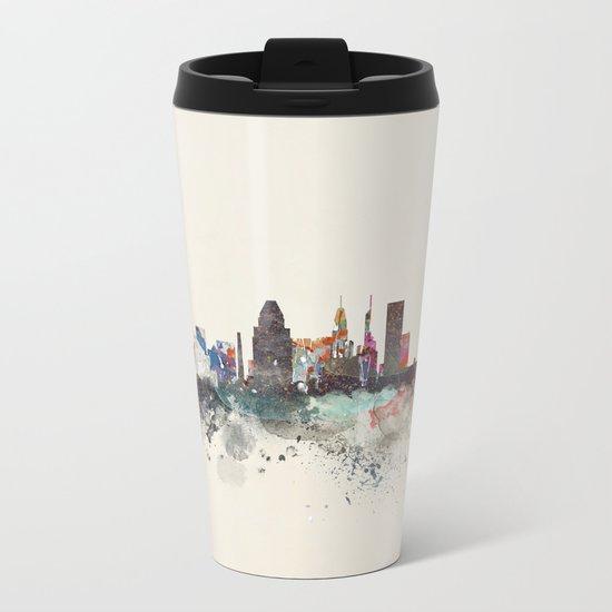 baltimore maryland skyline Metal Travel Mug
