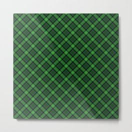 Green Scottish Fabric High Res Metal Print