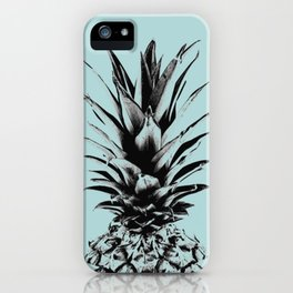 Pineapple in blue iPhone Case
